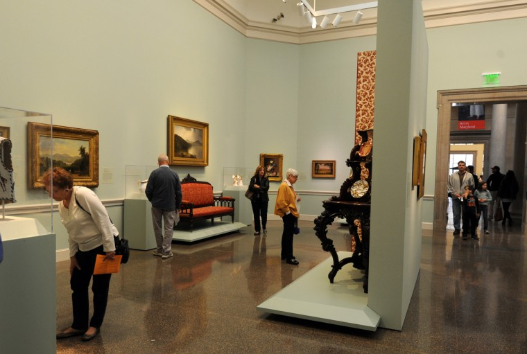 "According to this gallery description, ""The works of art in this gallery demonstrate America's cultural achievements during the mid-and late 19th century.""  (Algerina Perna/Baltimore Sun)"