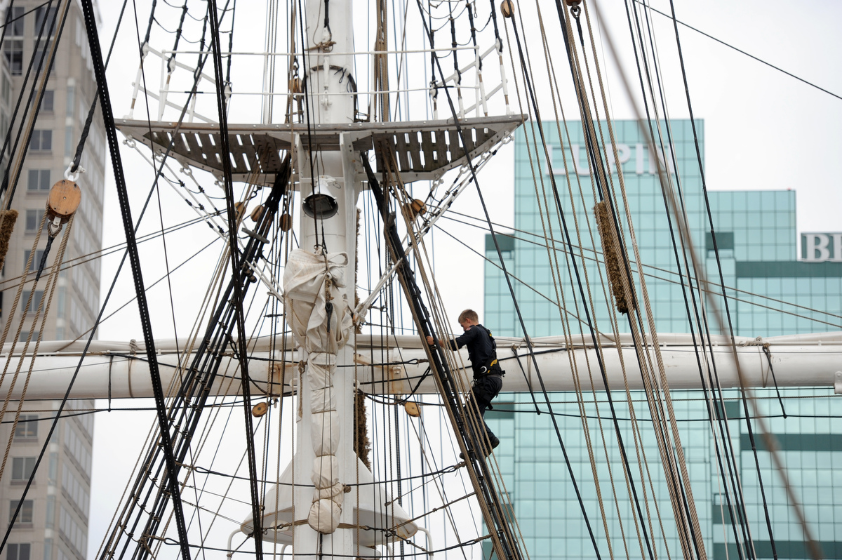 Tall ship Statsraad Lehmkuhl visits Baltimore's Inner Harbor