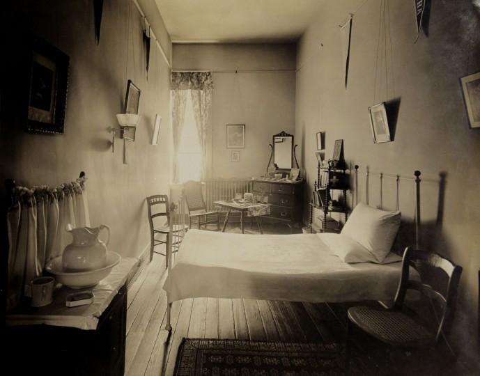 A dorm room.