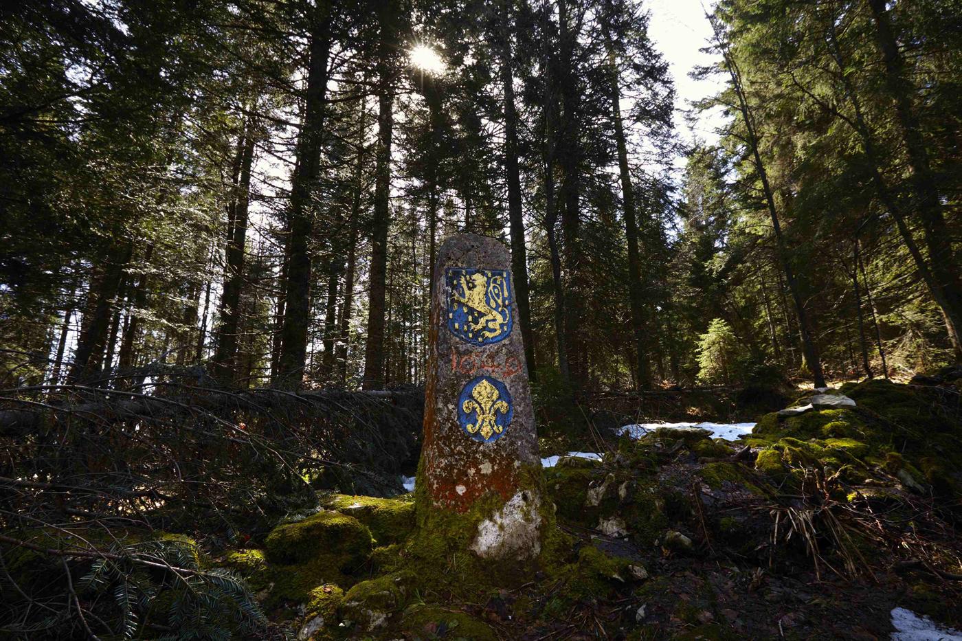 A walk along the Switzerland border