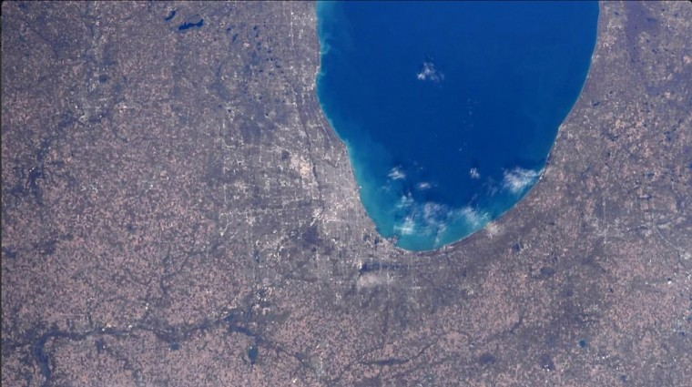 On October 25, the International Space Station passed over Chicago and Lake Michigan on what Wiseman described as a beautiful crisp fall day. (Reid Wiseman/NASA)