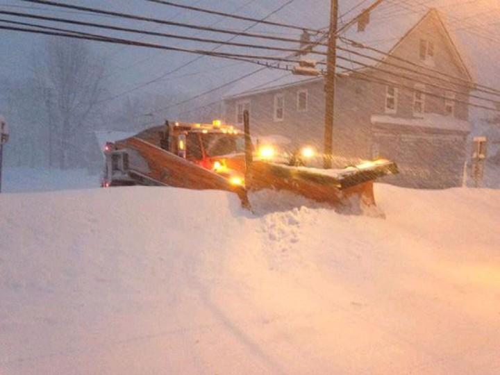 Snowplow in Town of Lancaster, near Buffalo. (John Hickey/Buffalo News)