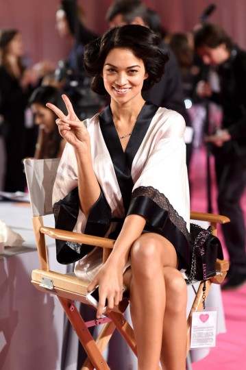 Victoria's Secret model Shanina Shaik is seen backstage prior the 2014 Victoria's Secret Fashion Show on December 2, 2014 in London, England. (Dimitrios Kambouris/Getty Images for Victoria's Secret)