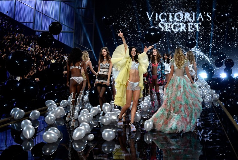 Victoria's Secret models walk the runway at the annual Victoria's Secret fashion show at Earls Court on December 2, 2014 in London, England. (Pascal Le Segretain/Getty Images)