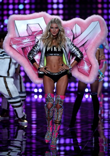 Model Elsa Hosk walks the runway at the annual Victoria's Secret fashion show at Earls Court on December 2, 2014 in London, England.  (Pascal Le Segretain/Getty Images)