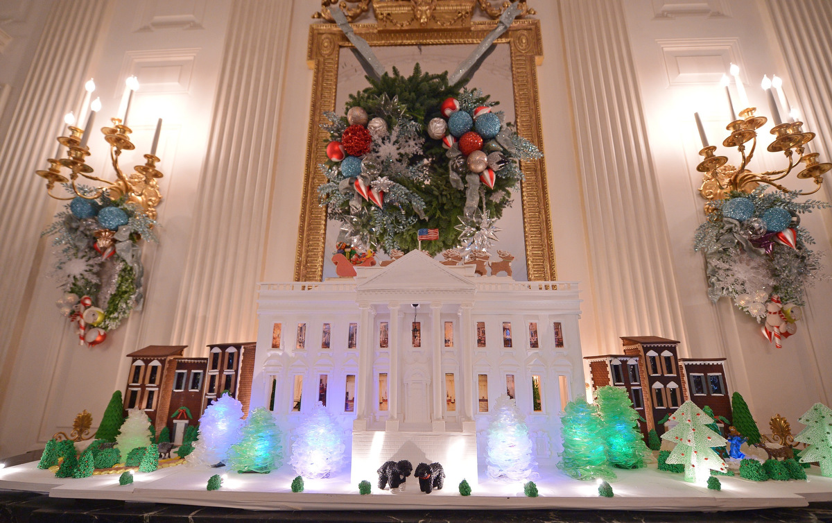 Holiday decorations at the white house are displayed during a press - Holiday Decorations At The White House Are Displayed During A Press 15