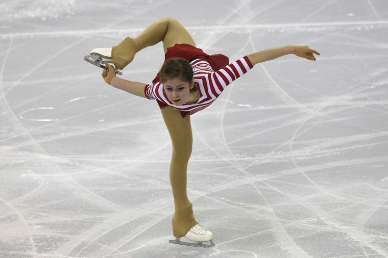 Russian Julia Lipnitskaia performs during the senior ladies short program at the ISU Grand Prix of figure skating Final 2014 in the Barcelona International Convention Centre, on December 11. LLUIS GENE - AFP/GETTY IMAGES