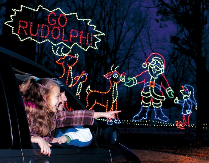 Santa Claus Land of Lights at the Lake Rudolph Campground and RV Resort is among cherished events that take place during the Santa Claus, Ind., Christmas Celebration. (Photo courtesy Spencer County Visitors Bureau/TNS)