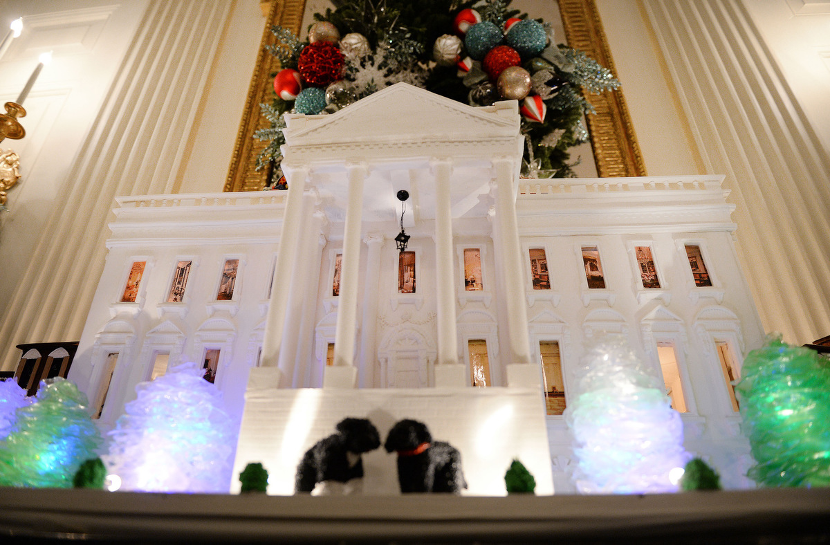 Holiday decorations at the white house are displayed during a press - Holiday Decorations At The White House Are Displayed During A Press 9