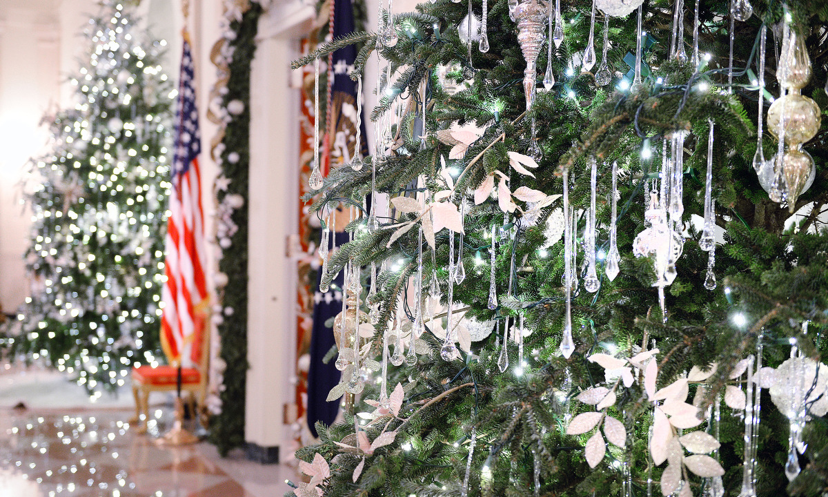 Holiday decorations at the white house are displayed during a press - Holiday Decorations At The White House Are Displayed During A Press 43