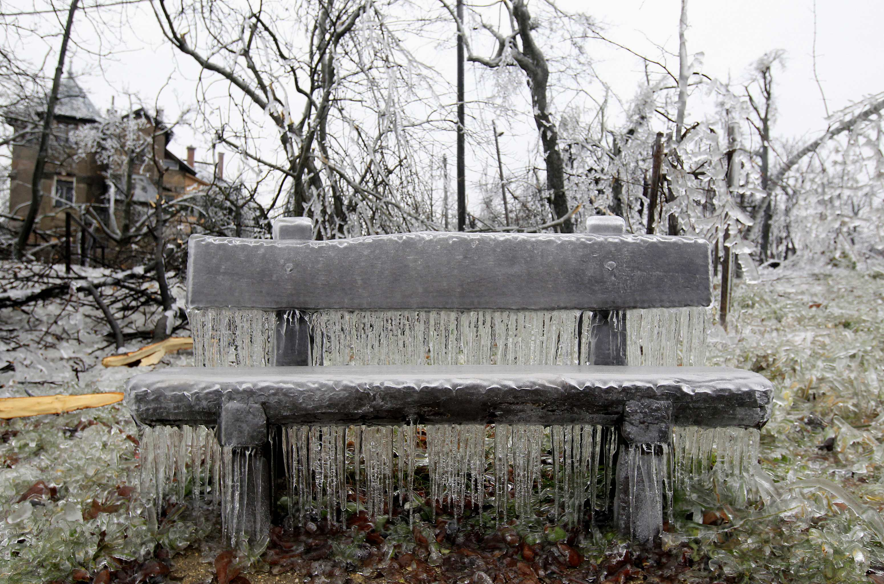 Icy weather freezes central Europe
