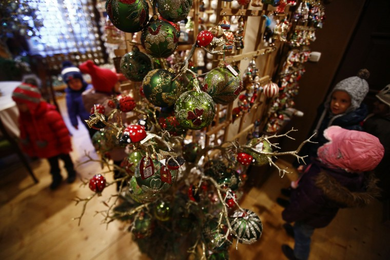 Christmas Ornaments In The Town Of Jozefow Outside Warsaw December 2