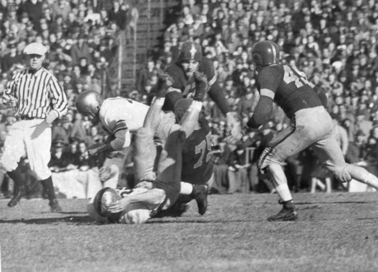 Scenes from the 1944 Army-Navy game at Baltimore Stadium. (UM Libraries, Special Collections, News American Photo)
