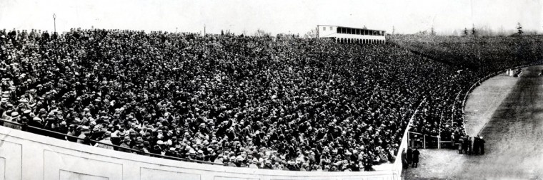 The crowd at Baltimore Stadium takes in the Army-Navy game on Dec. 1, 1924. (Baltimore Sun file photo)