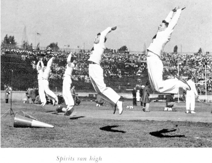 Scenes from the 1944 Army-Navy game at Baltimore Stadium. (Courtesy United States Naval Academy Archives. Gary A. LaValley)