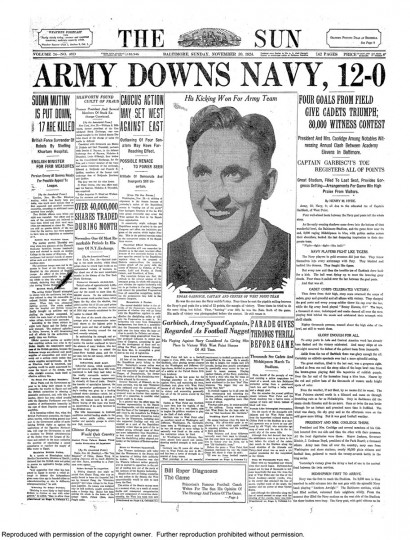 Army-Navy coverage from The Sun.