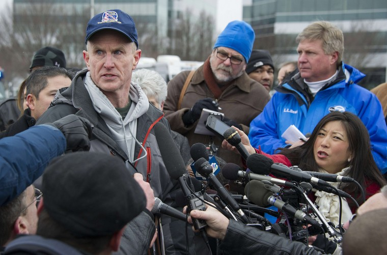 Howard County Police Chief Bill McMahon speaks during a press conference outside the Columbia Mall after a fatal shooting on January 25, 2014. Three people were killed in a shooting at the popular shopping mall in a suburb of Washington, DC, authorities said. AFP PHOTO / Jim WATSONJIM WATSON/AFP/Getty Images