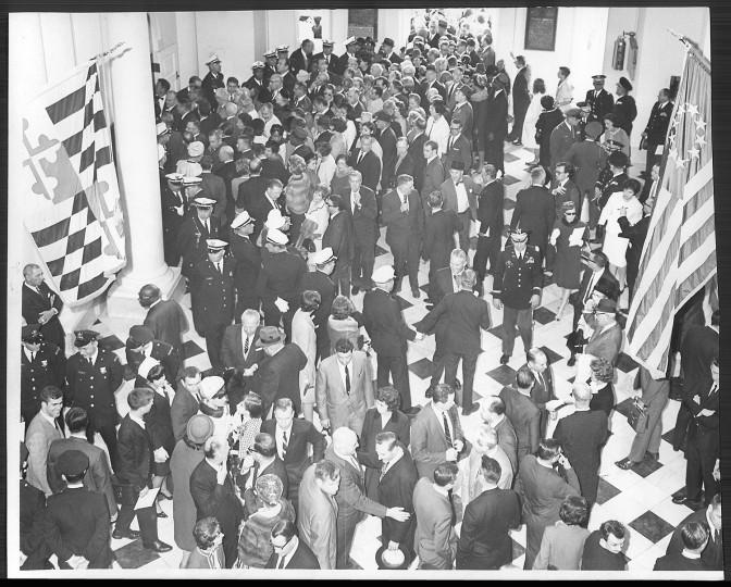 Spiro Agnew's 1967 inauguration. (Baltimore Sun file photo)