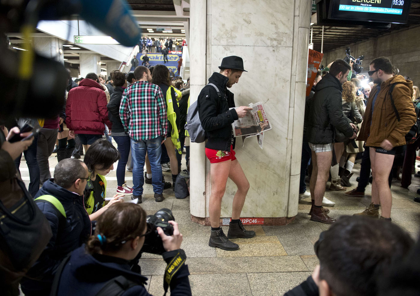 In case you missed it: Photos from No Pants Subway Ride