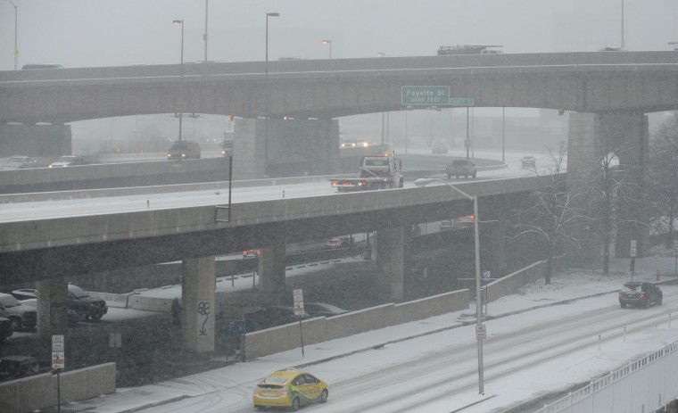 I-83 and Guilford Avenue, looking south. (Jeffrey F. Bill / Baltimore Sun)