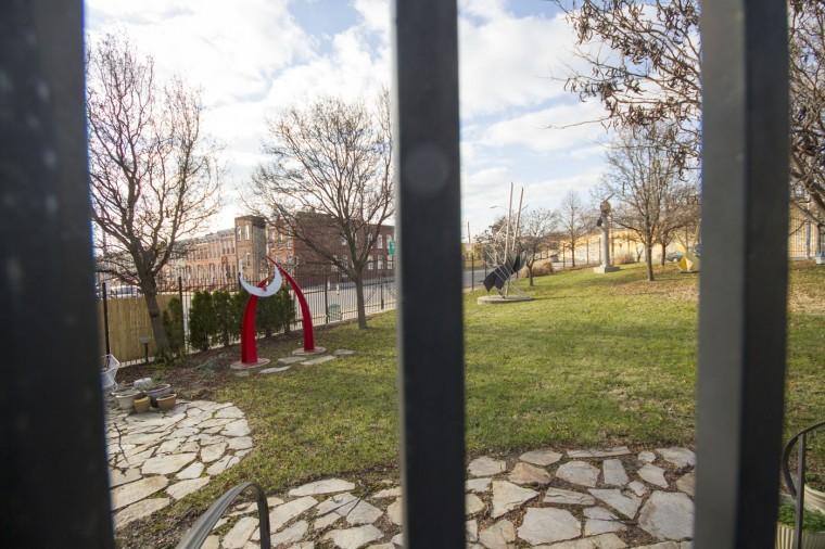 Dec. 2014: Scenes from Pigtown/Washington Village in Southwest Baltimore. Here, Rodney Carroll's shop sits adjacent to his sculpture garden. Kalani Gordon/Baltimore Sun