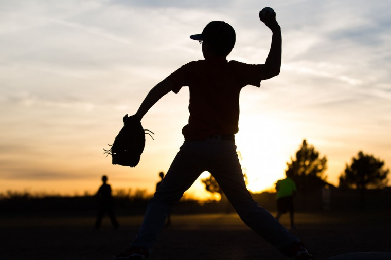Kaiden Wells, 10, throws a baseball during Odessa Rage Youth baseball team practice Wednesday, Jan. 28, 2015, in Odessa, Texas. (AP Photo/Odessa American, Courtney Sacco)