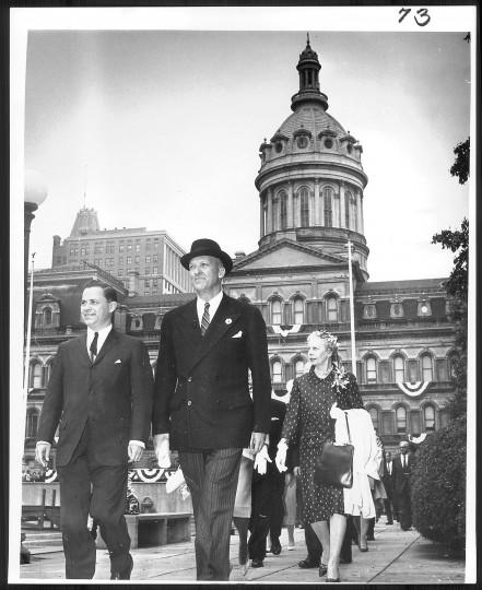 Theodore McKeldin's mayoral inauguration in 1963. (Baltimore Sun file photo)