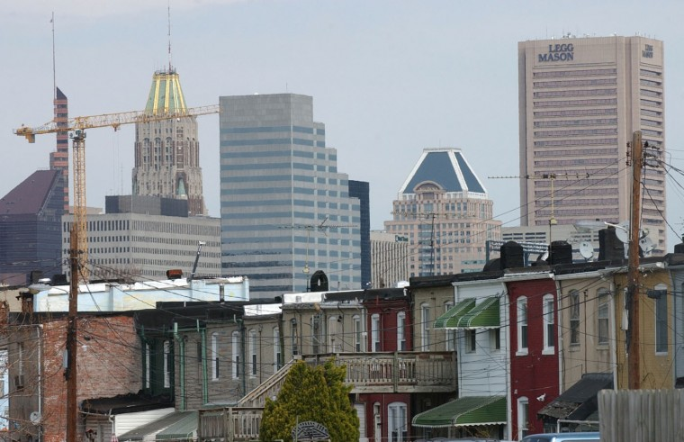 3/28/06: The rowhouses of Pigtown stand southwest of downtown. Jed Kirschbaum/Baltimore Sun