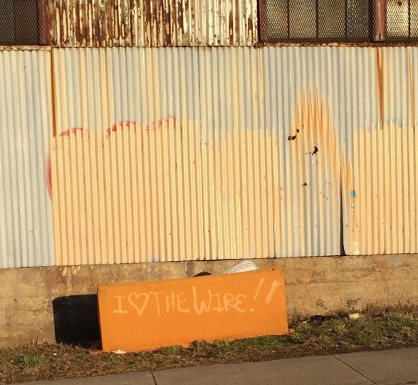 Submitted by Erin Harty for Only in Baltimore. Caption info from Erin: Someone dumped an ugly orange couch on the side of the street in Pigtown. A day or two later, someone tagged it with this (ironic?) graffiti.