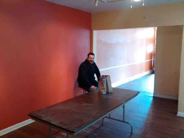 Chef Cyrus seeing the future of his new location on 36th Street.