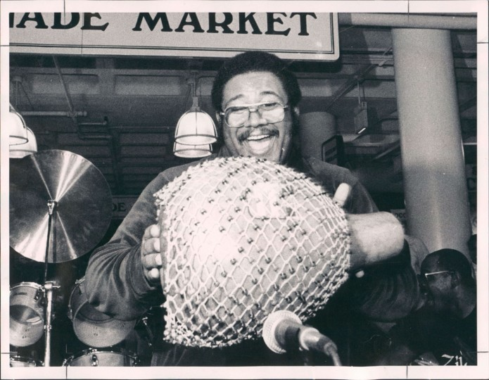 Major Boyd at a Mardi Gras celebration at Harbor Place on February 15, 1983. (William Hotz/Baltimore Sun)