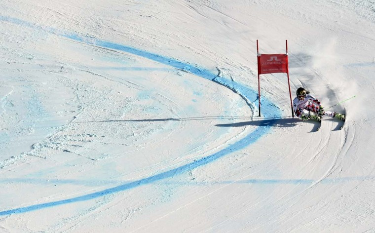Anna Fenninger of Austria skis her second run during the 2015 World Alpine Ski Championships women's giant slalom February 12, 2015 in Beaver Creek, Colorado.     CREDIT: DON EMMERT - AFP/GETTY IMAGES