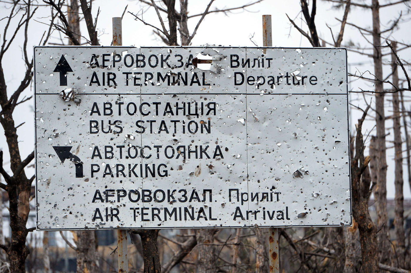 Inside a Ukraine airport destroyed by a year of war