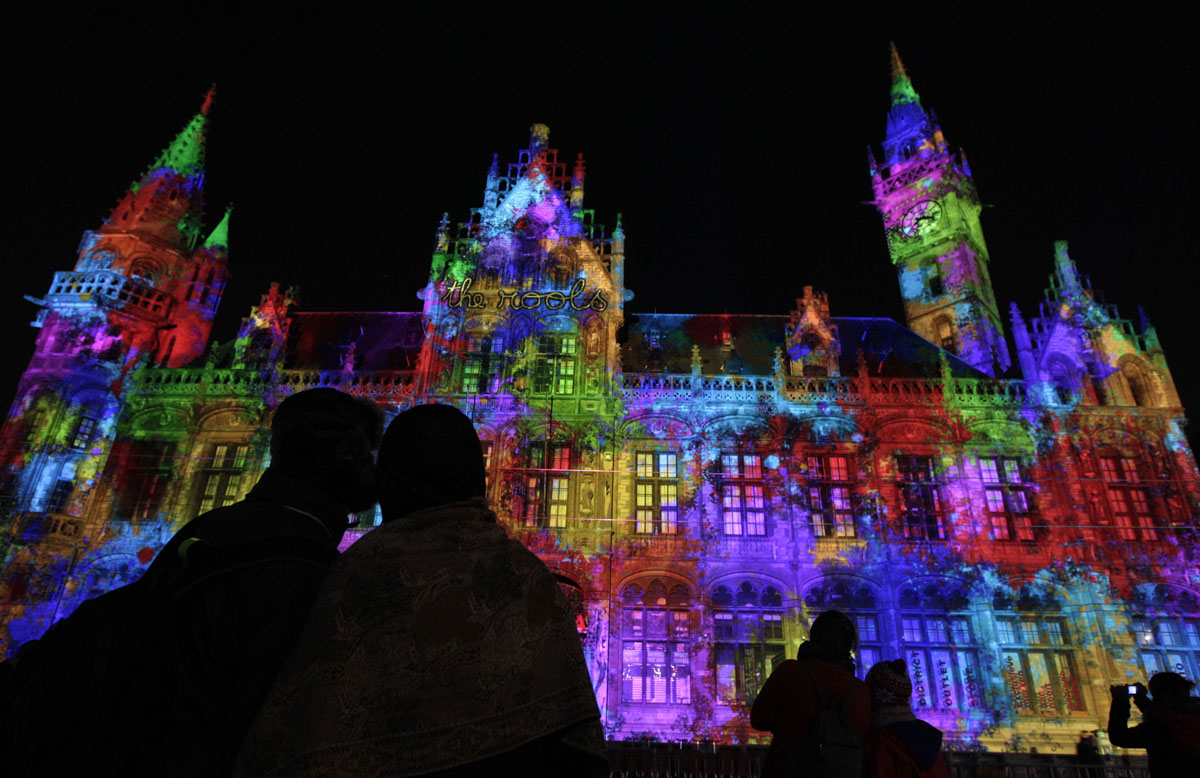 The Light Festival in Ghent, Belgium