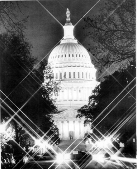 Jan. 1, 1977: The Capital is aglow with light.