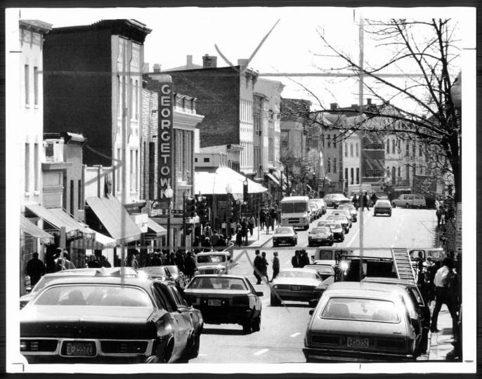 Georgetown, from P Street looking down Wisconsin