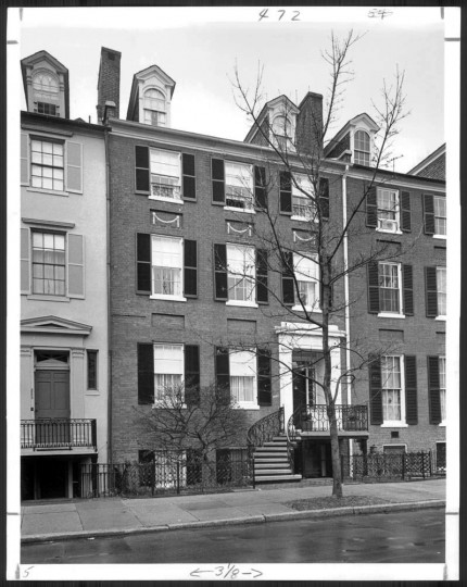 """March 23, 1975: Georgetown home on """"Smith's Row,"""" believed to have been built around 1805. (William L. Klender)"""