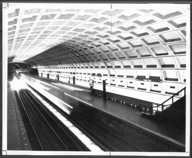 August 1, 1981: A train streaks into the Dupont Circle station. (David Brauner)
