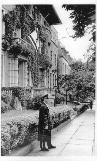 Undated: Outside the Israeli Embassy in D.C.