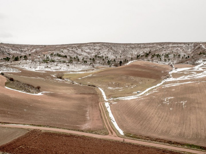 The landscape outside the village of Luzon on Feb. 14 near Molina de Aragon, Spain. (David Ramos/Getty Images)