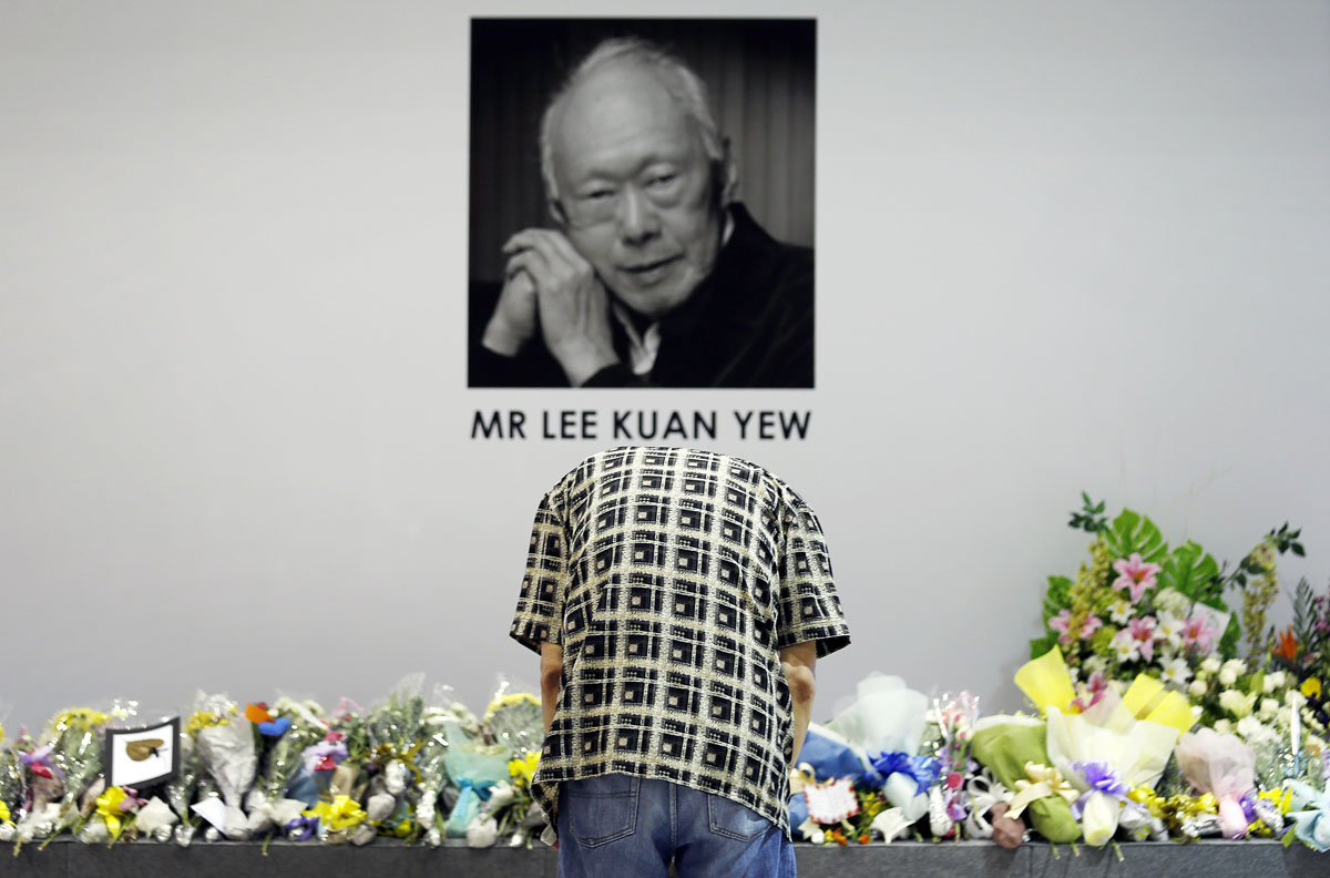 Singapore mourns the death of Prime Minister Lee Kuan Yew