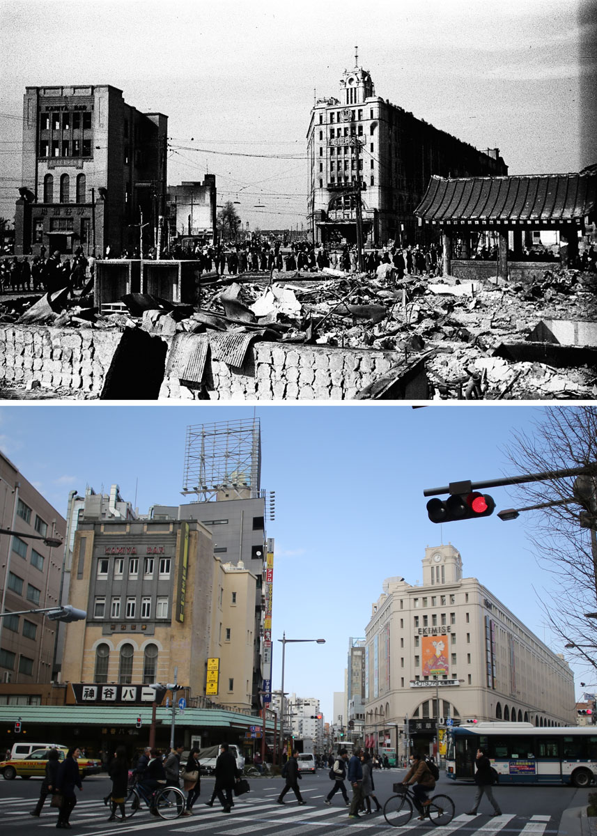 70 years later march 10 1945 firebombing in tokyo japan for Cities destroyed in ww2