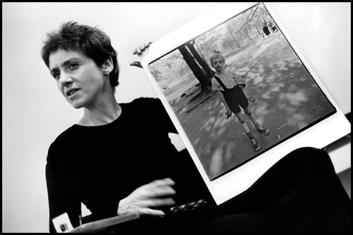 diane arbus essay There is a once-famed essay–it was published just before diane arbus made her always astounding photograph of an unhinged fauntleroy with a (toy) grenade in his hand–in which philip roth found the sight of america at its work so stupefying as to have silenced the country's storytellers.
