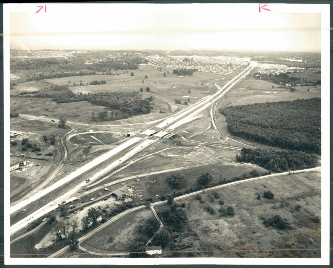 Beltway at Security Blvd. (Lawrence McNally/News American/Baltimore County Public Library Photo Collection, 1962)