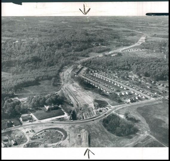 The beltway being built near York Rd. in Towson. (Robert Kniesche/Baltimore Sun, 1954)