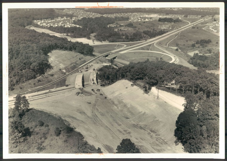 Beltway interchange with Loch Raven Blvd. (William L. Klender/Baltimore Sun, 1961)
