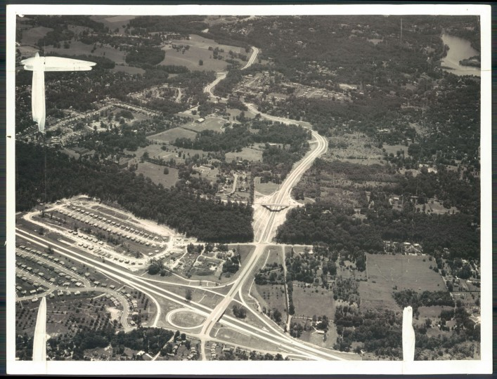 Baltimore beltway construction on September 12, 1958. (Photography by Maps, Incorporated, Baltimore Sun archives)