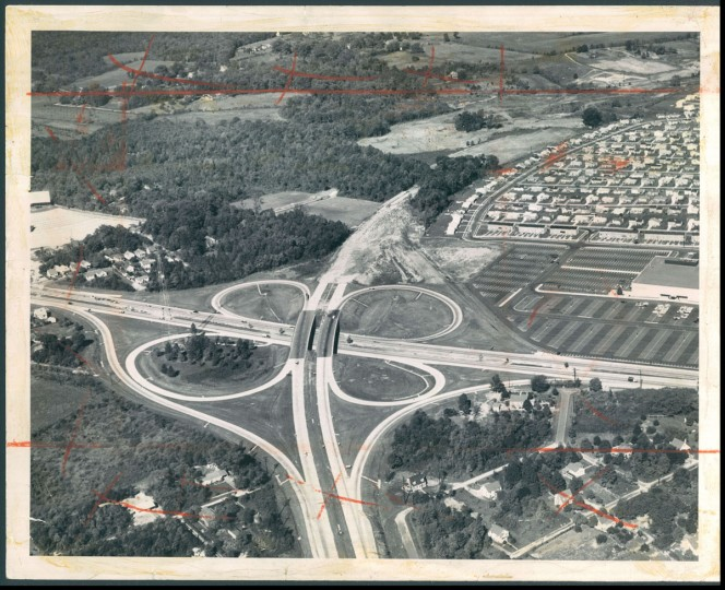 The beltway interchange at Route 40. (Robert F. Kniesche/Baltimore Sun, 1961)