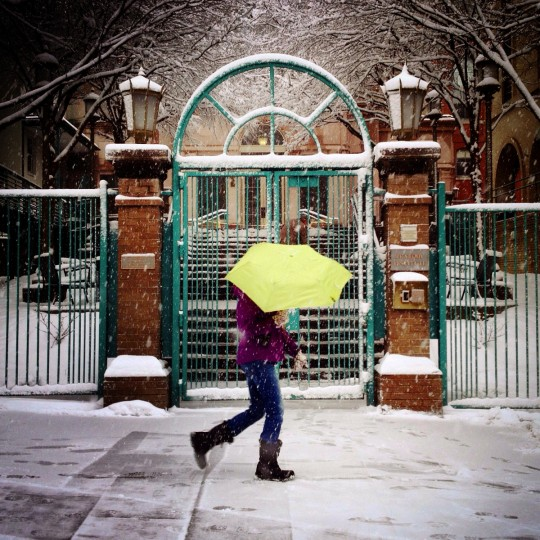 The Peabody Institute in Mt. Vernon during the snow.  (Lloyd Fox/Baltimore Sun)