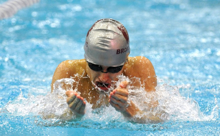 Broadneck's Josh Tosoni competes in the Mens 100 Yard Breaststroke at the MPSSAA 4A3A State Swim Championships held at the Prince George's Sports and Learning Center in Landover. (Matthew Cole/BSMG)